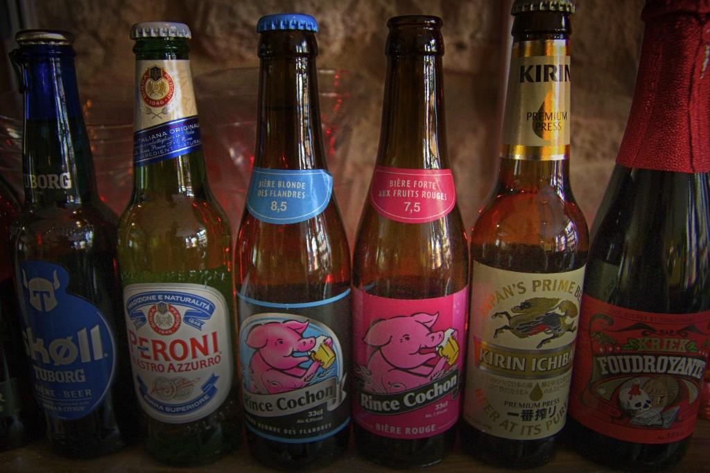 Quelques bières disponibles chez nous